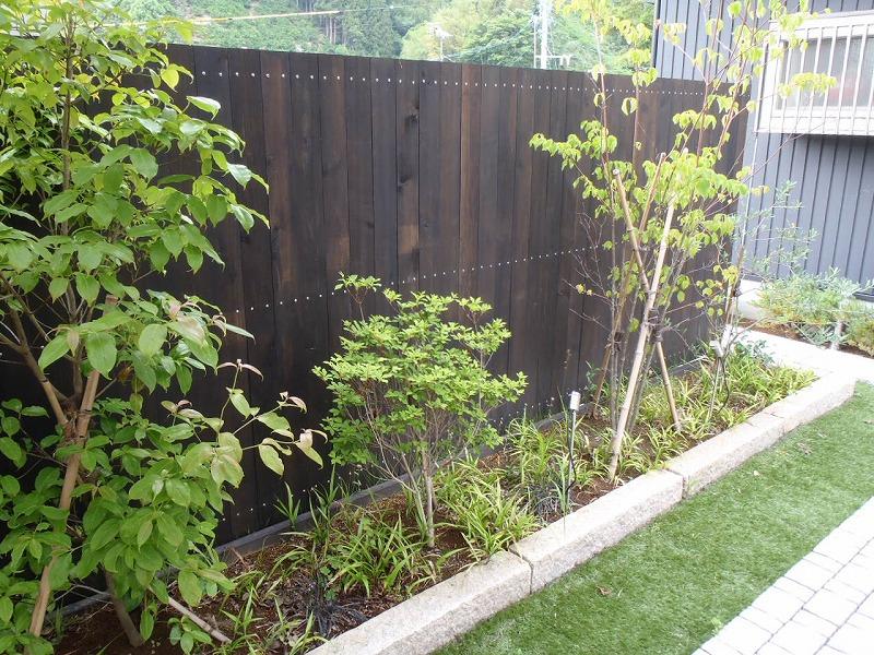 ウッドフェンス 植栽 藤枝市 施工例