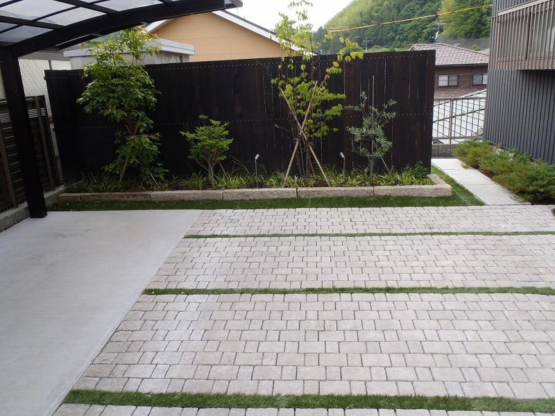 駐車場 インターロッキング 藤枝市 施工例