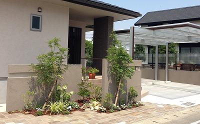 雑木を中心に緑に囲まれた家